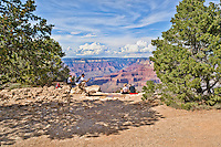 Yaki Point,Grand Canyon National Park, Arizona, USA. Tourists enjoying the view.