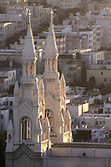 Steeples of Sts. Peter & Paul Church, North Beach, San Francisco, California