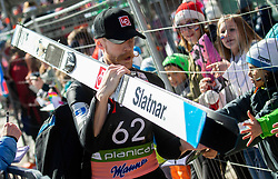 Robert Johansson (NOR) with fans during the Trial Round of the Ski Flying Hill Individual Competition at Day 1 of FIS Ski Jumping World Cup Final 2019, on March 21, 2019 in Planica, Slovenia. Photo by Vid Ponikvar / Sportida