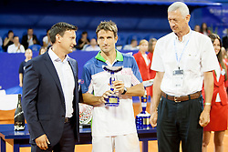 Tommy Robredo of Espana during flower ceremony after final of singles at 25th Vegeta Croatia Open Umag, on July 27, 2014, in Stella Maris, Umag, Croatia. Photo by Urban Urbanc / Sportida