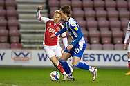 Wigan Athletic forward Will Keane (10)in action during the EFL Sky Bet League 1 match between Wigan Athletic and Fleetwood Town at the DW Stadium, Wigan, England on 23 January 2021.