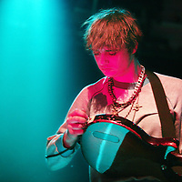 Nederland,Amsterdam ,18 februari 2008..Zanger Pete Doherty van Babyshambles tijdens het concert in concertzaal Paradiso.
