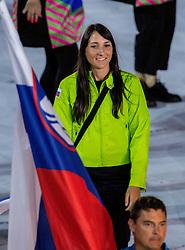 05-08-2016 BRA: Olympic Games day -1, Rio de Janeiro<br /> Openingsceremonie van de Olympische Spelen in Rio / dans, muziek, show en eenboodschap aan de wereld - Slovenie Slovenia / Veronika Macarol of Slovenia