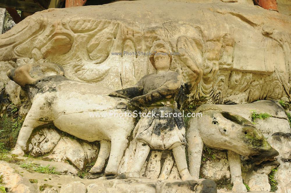 China, Chongqing Municipality, Dazu County, The Dazu Rock Carvings, a UNESCO World Heritage Site