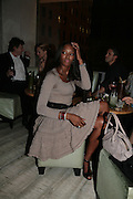 NAOMI CAMPBELL, Party hosted by Larry Gagosian at Nobu, Berkeley St. London. 9 October 2007. -DO NOT ARCHIVE-© Copyright Photograph by Dafydd Jones. 248 Clapham Rd. London SW9 0PZ. Tel 0207 820 0771. www.dafjones.com.