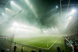 SRC Stozice in fog during football match between NK Olimpija Ljubljana and NS Mura in Round #17 of Prva liga Telekom Slovenije 2018/19, on November 23, 2018 in SRC Stozice, Ljubljana, Slovenia. Photo by Ziga Zupan / Sportida