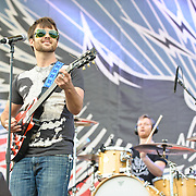 COLUMBIA, MD - October 6th, 2012 - Travis Morrison and Joe Easley of The Dismemberment Plan perform on the West Stage at the 2012 Virgin Mobile FreeFest in Columbia, MD. (Photo by Kyle Gustafson / For The Washington Post)