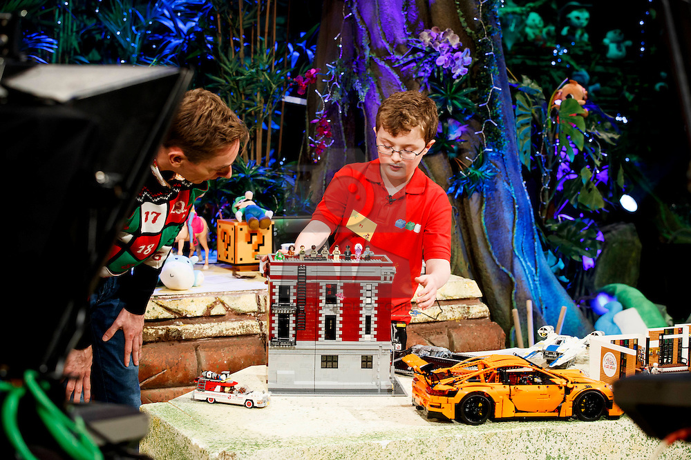 03/12/2016 Pictured joining Ryan Tubridy on the RTÉ The Late Late Toy Show is toy tester PJ Keegan from Ballintogher, Co Sligo. Picture Andres Poveda
