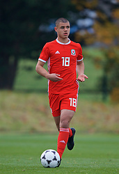 WREXHAM, WALES - Wednesday, October 30, 2019: Wales' Kai Ludvigsen during the 2019 Victory Shield match between Wales and Republic of Ireland at Colliers Park. (Pic by David Rawcliffe/Propaganda)