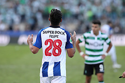 May 25, 2019 - Oeiras, Portugal - OEIRAS, PORTUGAL - MAY 25: Porto's Brazilian defender Felipe celebrates after scoring a goal during the Portugal Cup Final football match Sporting CP vs FC Porto at Jamor stadium, on May 25, 2019, in Oeiras, outskirts of Lisbon, Portugal. (Credit Image: © Pedro Fiuza/NurPhoto via ZUMA Press)