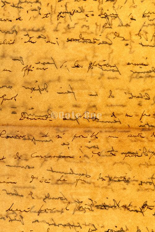 detail of an old handwritten letter