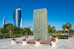 Martyrs Monument in  Al Shaheed Park in Kuwait, Middle East