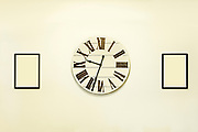 wall clock marks the hours