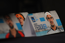 November 10, 2017 - London, United Kingdom - ATP World Tour FInals placard are pictured in the media room at The O2, London on November 10, 2017. (Credit Image: © Alberto Pezzali/NurPhoto via ZUMA Press)