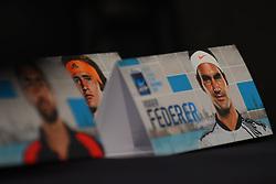 November 10, 2017 - London, United Kingdom - ATP World Tour FInals placard are pictured in the media room at The O2, London on November 10, 2017. (Credit Image: © Alberto Pezzali/NurPhoto via ZUMA Press)
