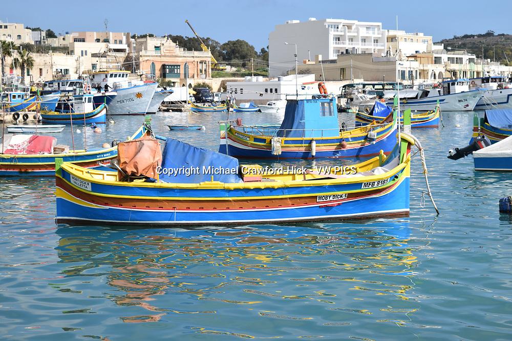 Fishing boat in Marsaxlokk