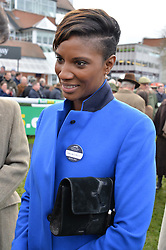 DENISE LEWIS at the 2015 Hennessy Gold Cup held at Newbury Racecourse, Berkshire on 28th November 2015.