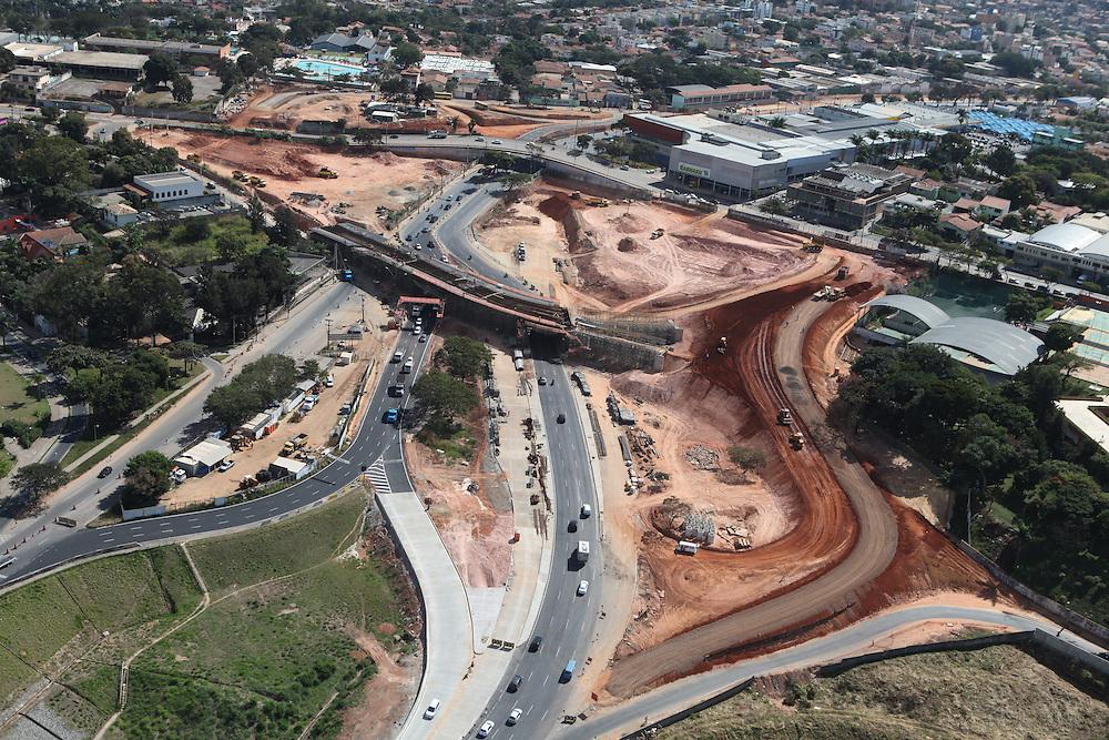 Belo Horizonte_MG, Brasil.<br /> <br /> Imagem aerea da duplicacao da Avenida Pedro I em Belo Horizonte, Minas Gerais.<br /> <br /> Aerial view of doubling Pedro I avenue in Belo Horizonte, Minas Gerais.<br /> <br /> Foto: RODRIGO LIMA / NITRO