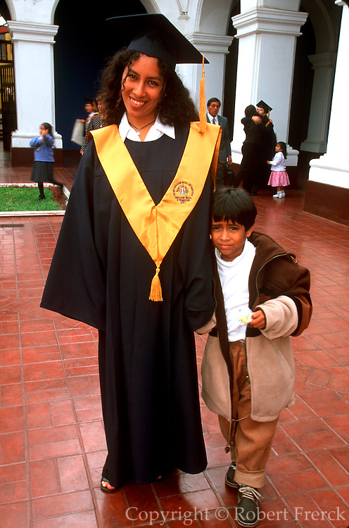 PERU, TRUJILLO National University graduation portrait