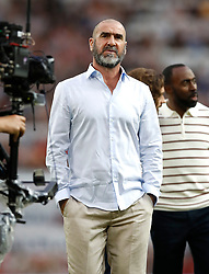 World XI's Eric Cantona prior to the UNICEF Soccer Aid match at Old Trafford, Manchester.