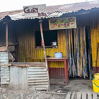 One of many small hotels in Mukuru Kwa Njenga, Nairobi.