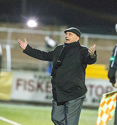 Arbroath's manager Dick Campbell after another miss. Forfar Athletic 0 v 1 Arbroath, Scottish Football League Division Two game played 10/12/2016 at Station Park.