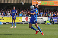 AFC Wimbledon midfielder Tom Soares (19) controlling the ball during the EFL Sky Bet League 1 match between AFC Wimbledon and Bristol Rovers at the Cherry Red Records Stadium, Kingston, England on 19 April 2019.
