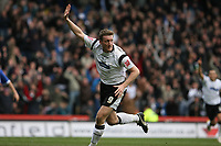 Photo: Pete Lorence.<br />Derby County v Cardiff City. Coca Cola Championship. 17/03/2007.<br />Steve Howard celebrates taking Derby to 3-1.