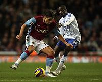 Photo: Paul Thomas.<br /> Aston Villa v Chelsea. The Barclays Premiership. 02/01/2007.<br /> <br /> Claude Makelele (R) of Chelsea comes into tackle Milan Baros.