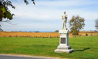 137 Pennsylvania volunteer infantry memorial, Antietam National Battlefield, Sharpsburg, Maryland, USA.