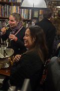 MERRY BROWNFIELD; CHARLOTTE COLBERT, Book launch for 'I Should Have Said' by Daisy de Villeneuve, John Sandoe Books, Blacklands Terrace. Chelsea, London. 10 March 2015.