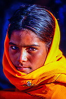 Rajasthani girl, Pushkar Fair (camel fair), Pushkar, Rajasthan, India