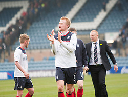 Falkirk's Mark Beck at the end.<br /> Dundee 0 v 1 Falkirk, Scottish Championship game played today at Dundee's Dens Park.<br /> © Michael Schofield.