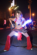A fan performing with light dancing at the first annual Pulse Festival in St. Louis on June 9, 2012.