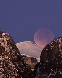 """Moon Eclipse over Death Canyon in Grand Teton National Park<br /> <br /> For production prints or stock photos click the Purchase Print/License Photo Button in upper Right; for Fine Art """"Custom Prints"""" contact Daryl - 208-709-3250 or dh@greater-yellowstone.com"""