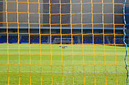 View of pitch from behind the goal during the EFL Sky Bet League 1 match between AFC Wimbledon and Hull City at Plough Lane, London, United Kingdom on 27 February 2021.