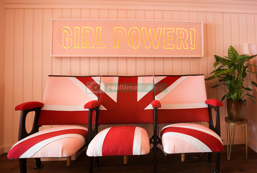 "Fancy spicing up your night? Now you can with a stay in the iconic bus from the Spice Girls movie. Host Suzanne Godley teamed up with Airbnb to create this unique and nostalgic stay in time for the Spice Girls reunion tour. The accommodation is made from the original Union Jack bus from the Spice Girls' 1997 movie Spice World, which was then converted into a luxury apartment. The Spice Bus will be situated in the heart of Wembley Park, London, where guests will be able to stay overnight from June 14. The recently renovated living area features pink Union Jack cinema chairs below a 'Girl Power' neon light installation and is fully stocked with vintage 90s magazines and CDs to help recreate the 90s era. With bold interiors, potted plants create a fresh homely feel downstairs while bright colourful scatter cushions surround the central seating area, providing a comfy place for guests to relax and spend time with each other. Upstairs there's a dressing and the adjoining bedroom, which is fitted with a striking animal-print carpet, provides comfy bedding for three guests who get to call the Spice Bus home for the night. Suzanne, who is a Spice Girls superfan, said: ""When my boss mentioned that he was considering buying the Spice Bus I was desperate to be a part of its renovation. We've worked hard over the past few months to turn the bus into a home, in keeping with its legacy, and I'm so excited to open it up to the public with the support of Airbnb. Being part of this project has been like a dream come true and I can't wait to meet other Spice Girls fans through this experience."". 15 May 2019 Pictured: Spice bus converted to Airbnb. Photo credit: Airbnb / MEGA TheMegaAgency.com +1 888 505 6342"