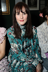 Michelle Dockery on the front row during the Erdem Autumn/Winter 2019 London Fashion Week show at The National Portrait Gallery, London.