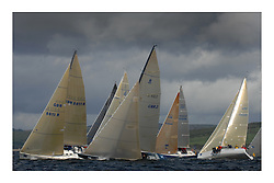 Sailing - The 2007 Bell Lawrie Scottish Series hosted by the Clyde Cruising Club, Tarbert, Loch Fyne..Brilliant first days conditions for racing across the three fleets...Class Two start with the 8 Metre Lafayette.