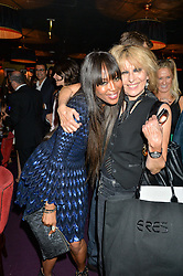 Left to right, NAOMI CAMPBELL and CHRISSIE HYNDE at Hoping's Greatest Hits - the 10th Anniversary of The Hoping Foundation's charity benefit held at Ronnie Scott's, 47 Frith Street, Soho, London on 16th June 2016.