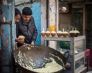 Malaiyo, a traditional sweet food of Varanasi, Uttar Pradesh, India
