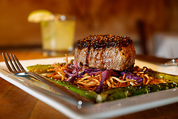 Garlic-stuffed beef tenderloin, Lonesome Dove, Forth Worth, Texas, USA. Lonesome Dove is owned by Tim Love.