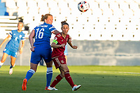 Finland's Anna Westerlund and Spain's Veronica Boquete during the match of  European Women's Championship 2017 at Leganes, between Spain and Finland. September 20, 2016. (ALTERPHOTOS/Rodrigo Jimenez)
