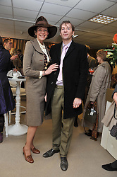 THOMASINA MIERS and MARK WILLIAMS at the Hennessy Gold Cup at Newbury Racecourse, Berkshire on 26th November 2011.