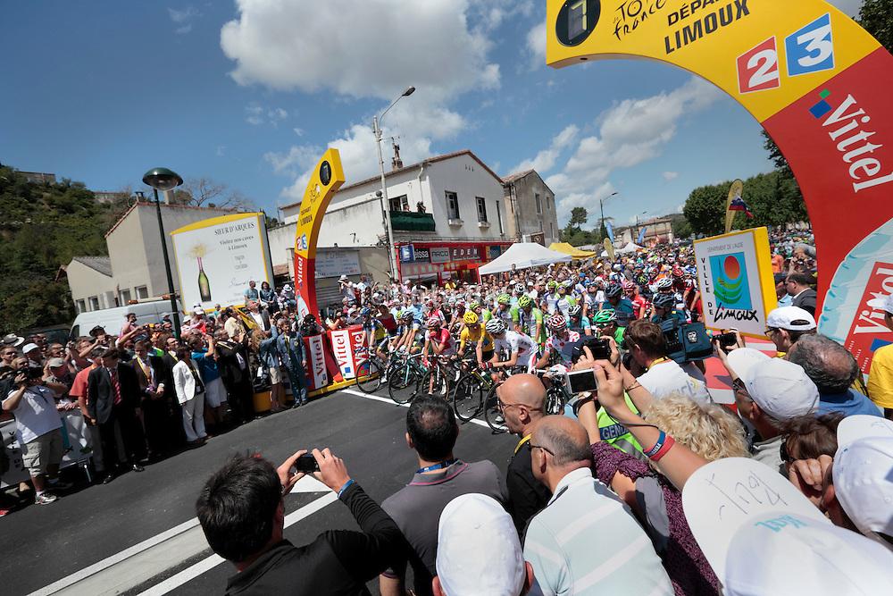 Limoux, Tour de France, 2012 stage 14, 7 seconds before start