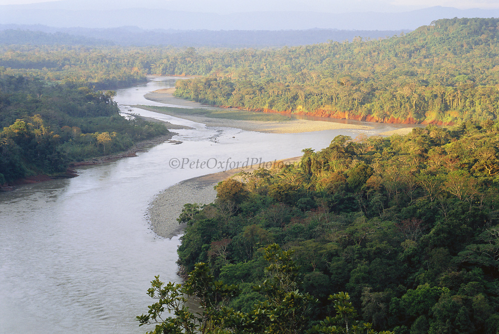 Lower Urubamba River as seen from the Pongo Canyon<br />Amazon Rain Forest, PERU.  South America