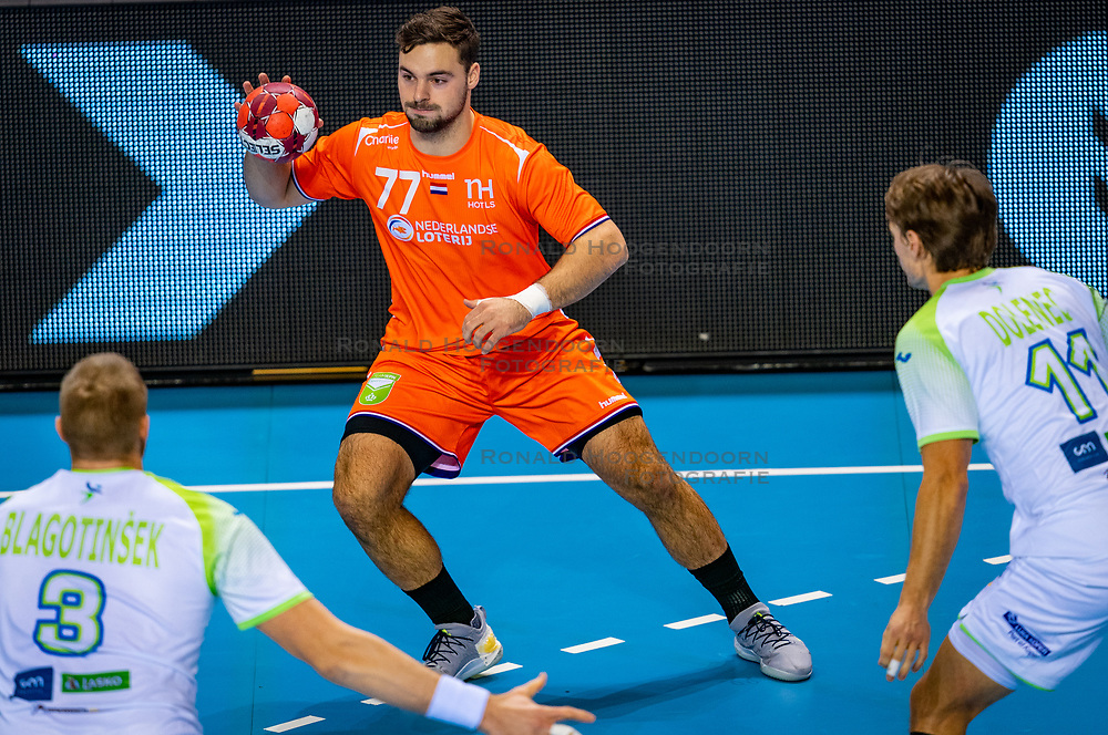 The Dutch handball player Dani Baijens against Slovenia during the European Championship qualifying match on January 6, 2020 in Topsportcentrum Almere