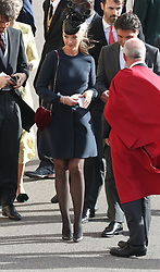 Guests arrive for the wedding of Princess Eugenie to Jack Brooksbank at St George's Chapel in Windsor Castle. 12 Oct 2018 Pictured: Tamara Beckwith. Photo credit: WPA POOL/ MEGA TheMegaAgency.com +1 888 505 6342