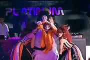Kaliningrad, Russia, 05/05/2007..Performers at the Platinum nightclub's Marquis de Sade birthday theme night.