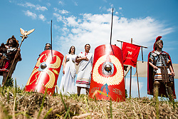 Petovia Romans of city Ptuj during 1st Stage of 27th Tour of Slovenia 2021 cycling race between Ptuj and Rogaska Slatina (151,5 km), on June 9, 2021 in Slovenia. Photo by Matic Klansek Velej / Sportida